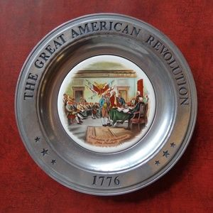 Vintage Great American Revolution 1776 Pewter